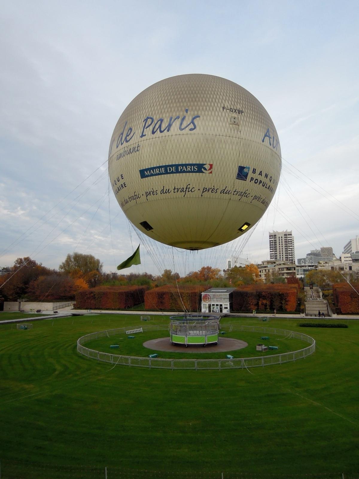 Big balloon over the grass