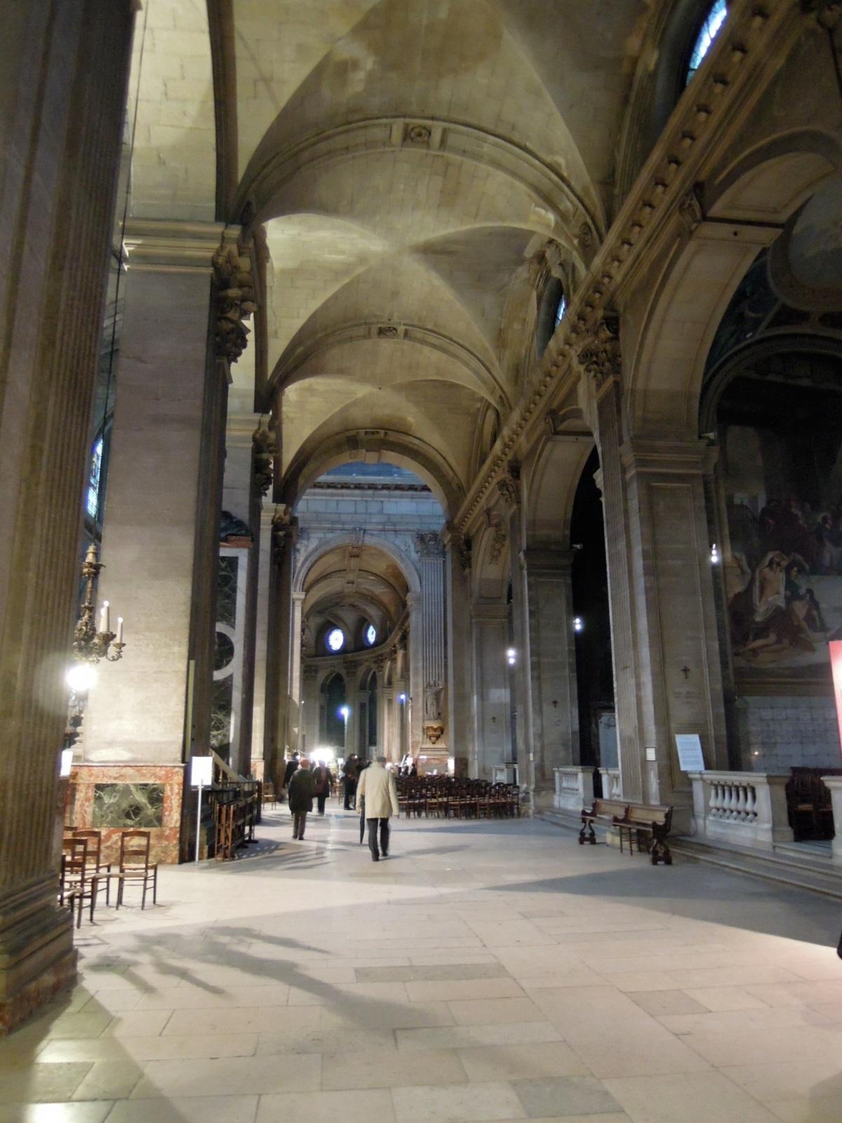 Vaulted ceilings inside Saint-Sulpice