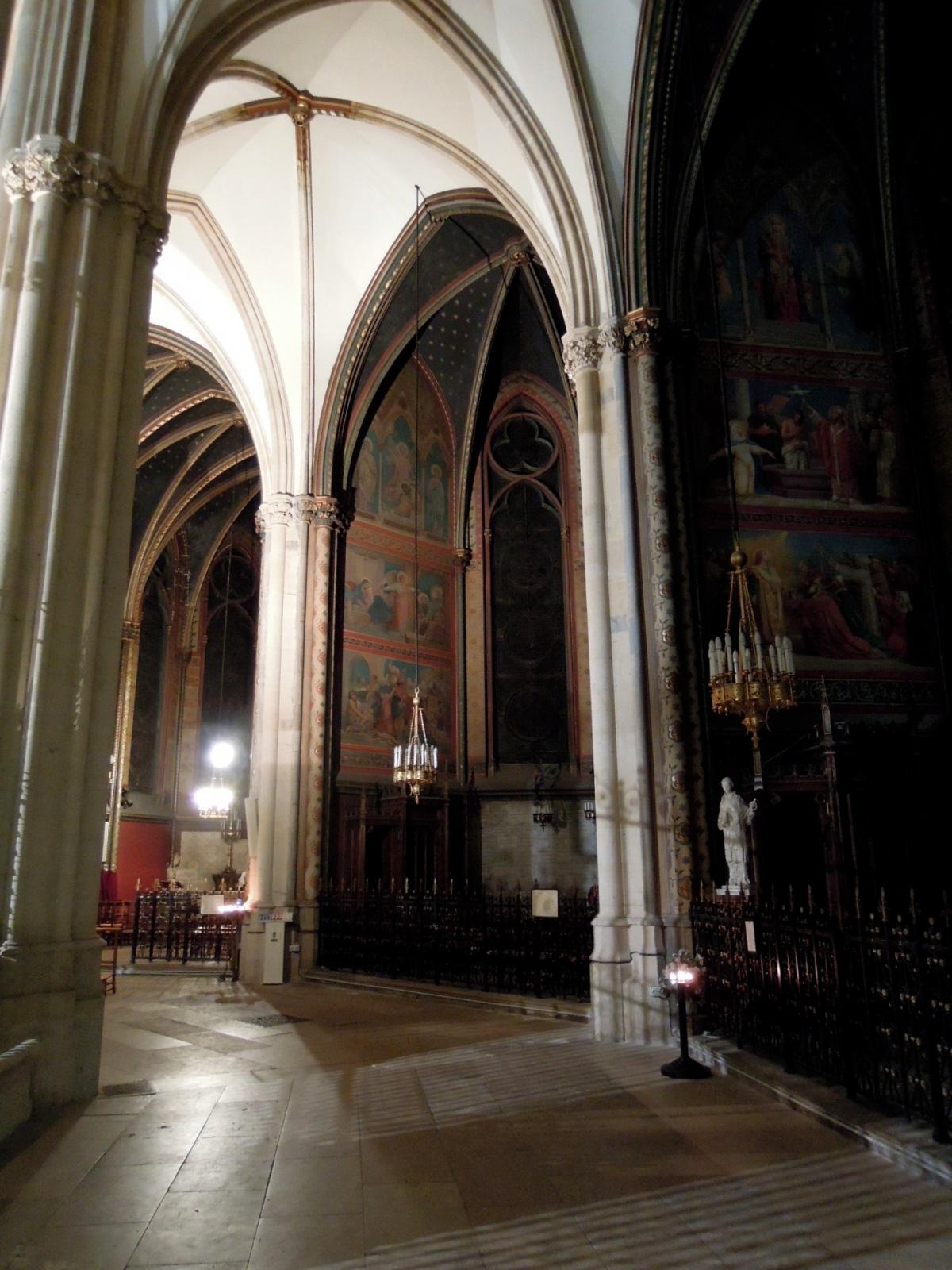 Vaulted ceilings inside Sainte-Clotilde Basilica