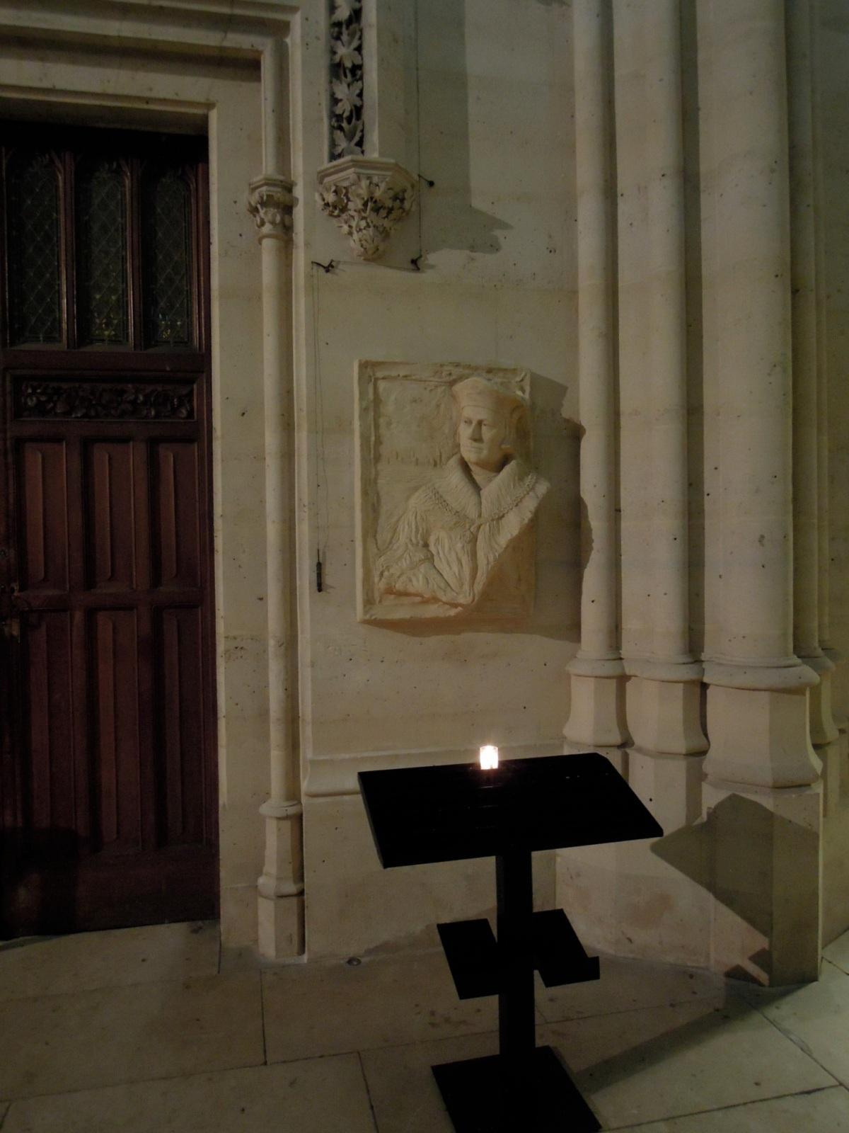 Wall relief inside Sainte-Clotilde Basilica