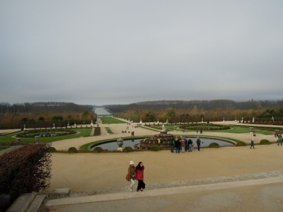 View of the gardens and Grand Canal of Versailles