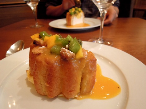 Cream-filled charlotte for two at L'Auberge du 15