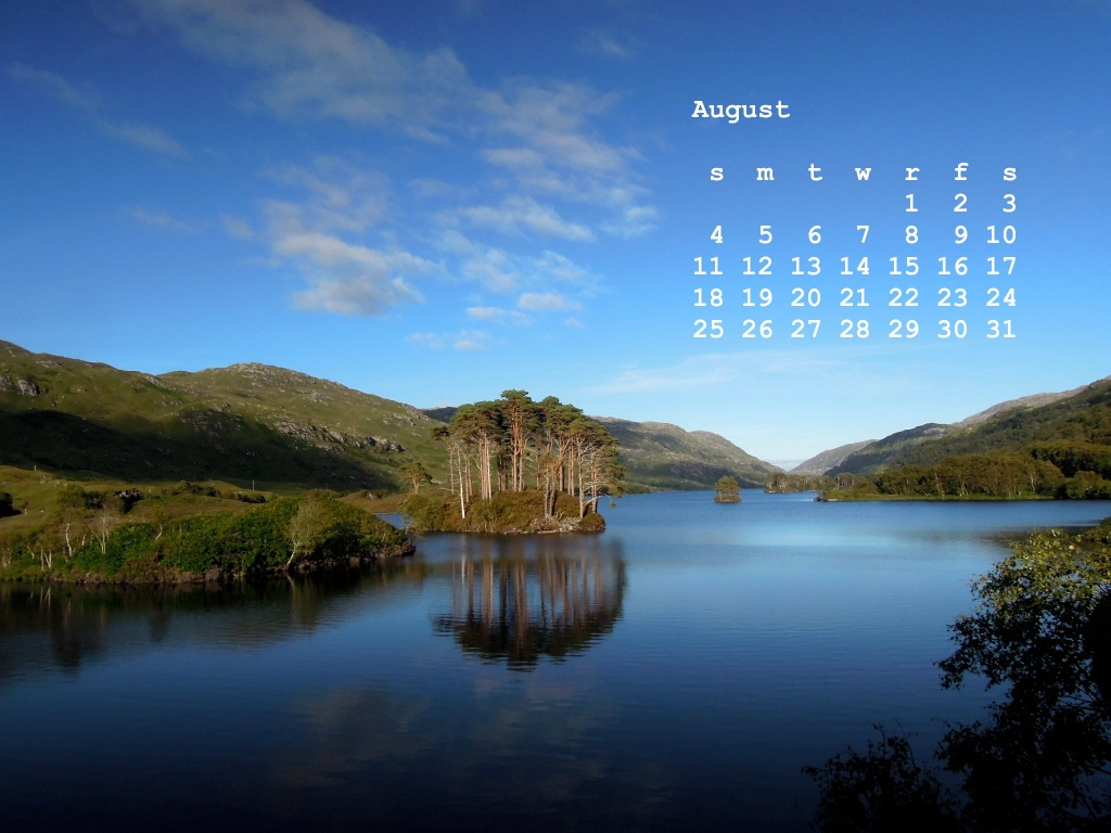 August from the Travel Scenes calendar