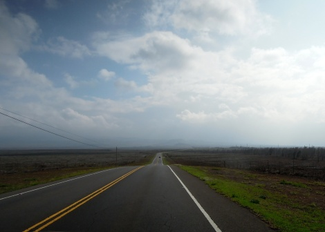 Road from Waimea to Waikoloa