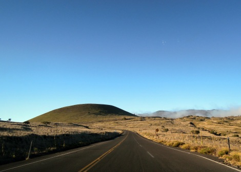View from the road up Mauna Kea