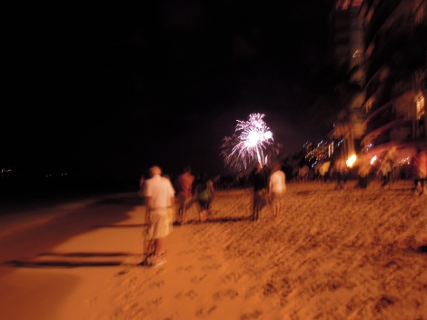 Fireworks at Waikiki
