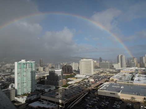 Rainbow over Ala Moana Center