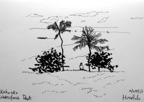 Kaka'ako Waterfront sketch
