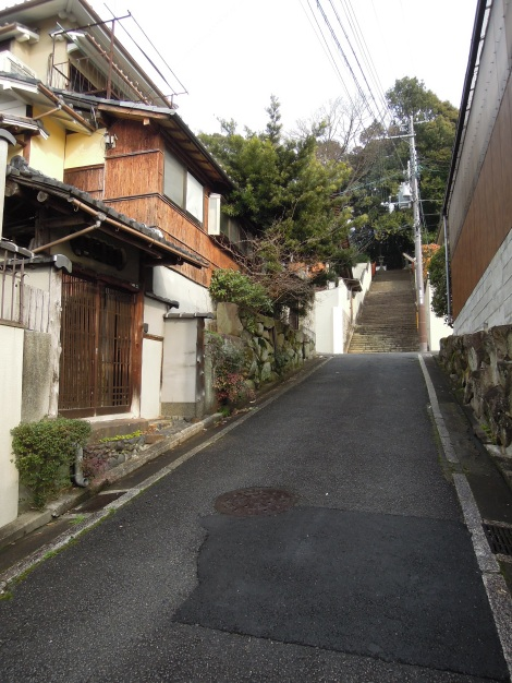 Our street in Kyoto leading up to Kenkun (Takeisao) Shrine