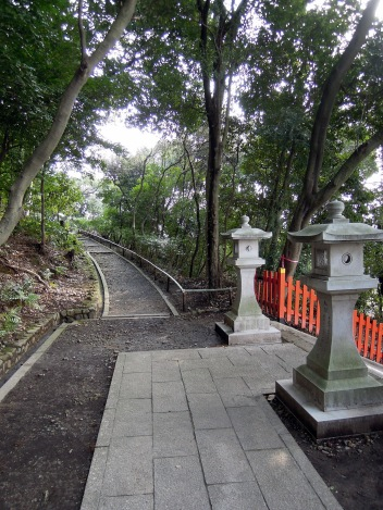 At the top of the steps to Kenkun (Takeisao) Shrine