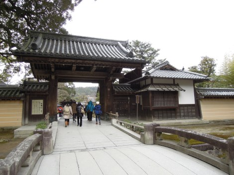 Main entrance gate at Kinkaku-ji