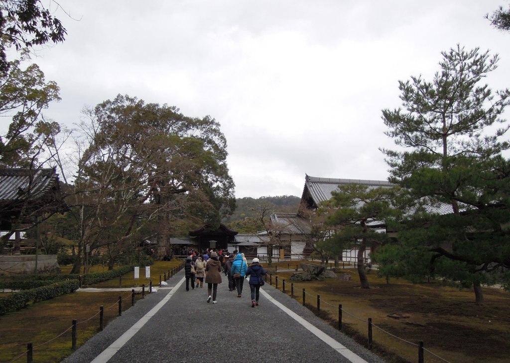 Tourists at Kinkaku-ji
