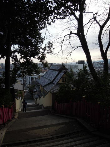 View from steps leading up to Kenkun (Takeisao) Shrine