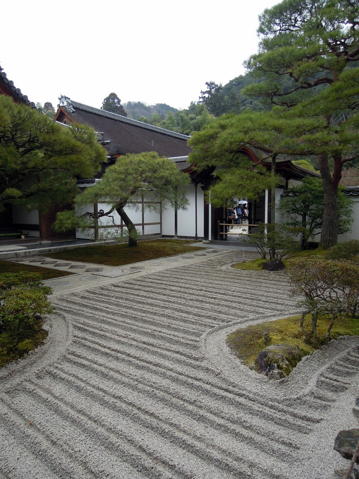 Entering Ginkaku-ji.