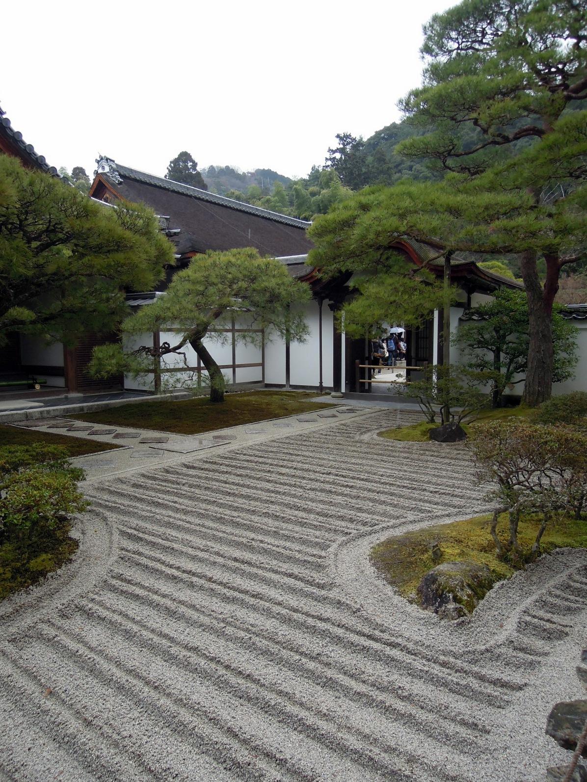 Entering Ginkaku-ji.