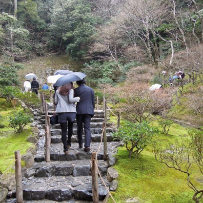 This temple is extremely popular and was pretty busy when we visited, even though it was raining.