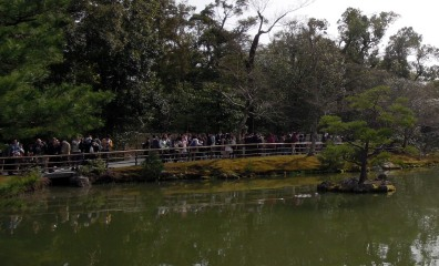 Peaceful setting, hordes of tourists.