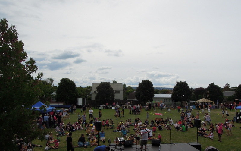Bandstand and crowd