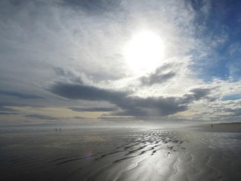 Light and sky, Oreti Beach, New Zealand