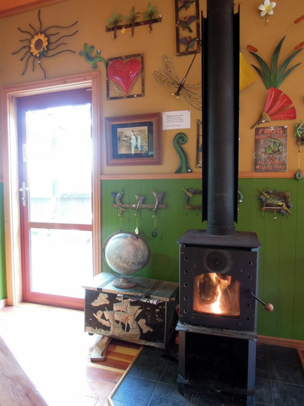 Inside the Whistling Frog Cafe, The Catlins, New Zealand