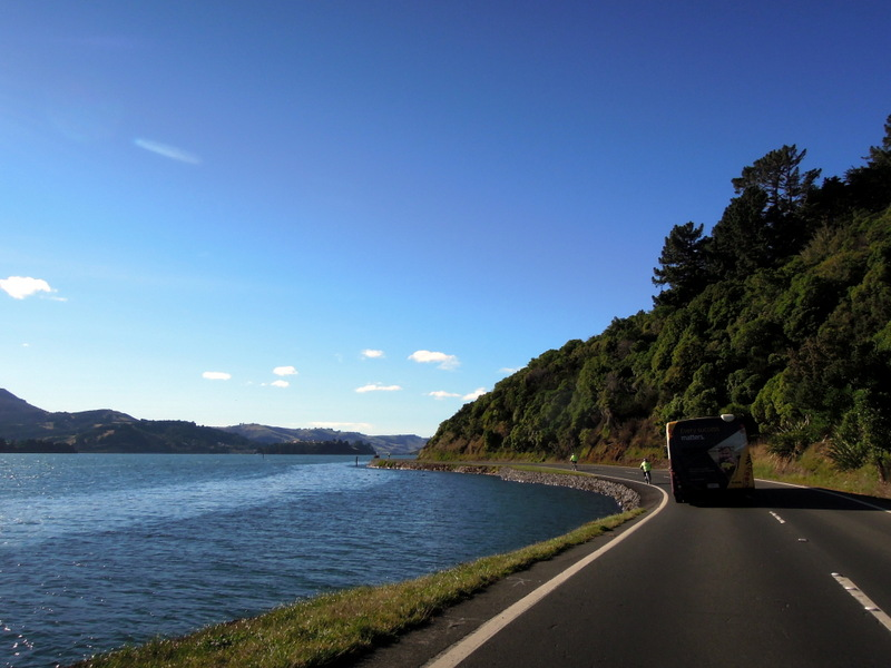Driving the Otago Peninsula, New Zealand