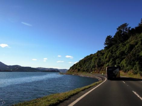 Driving the Otago Peninsula, New Zealand
