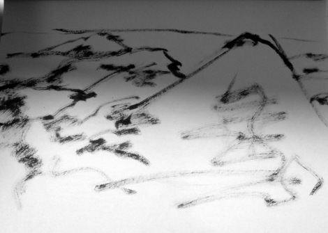 Very quick sketch of mountains