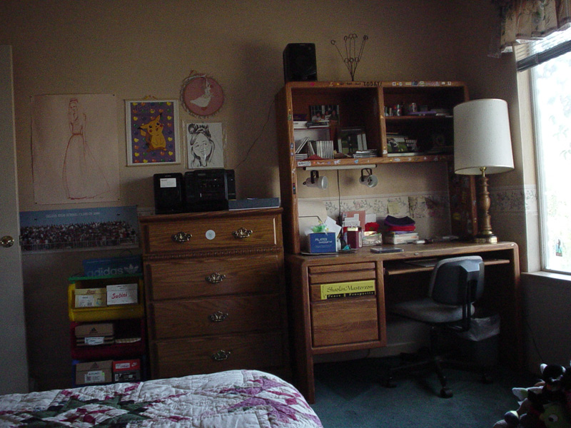Lisa's room from bed