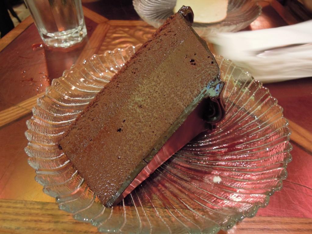 Chocolate fudge mousse cake