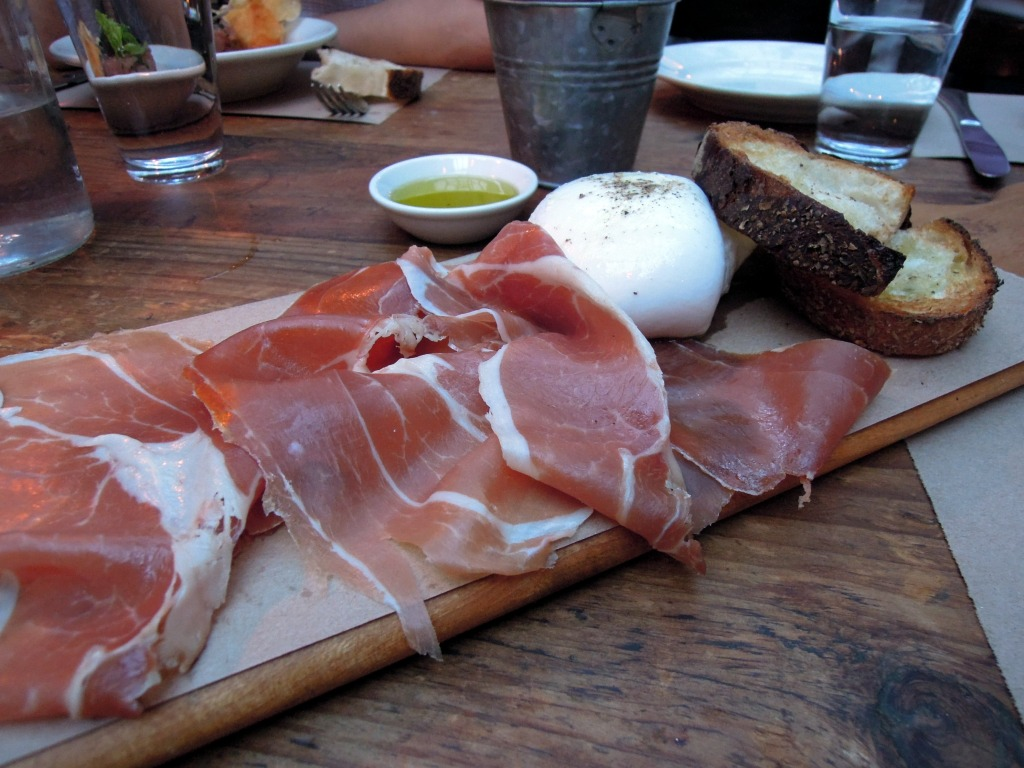Prosciutto and delicious delicious burrata
