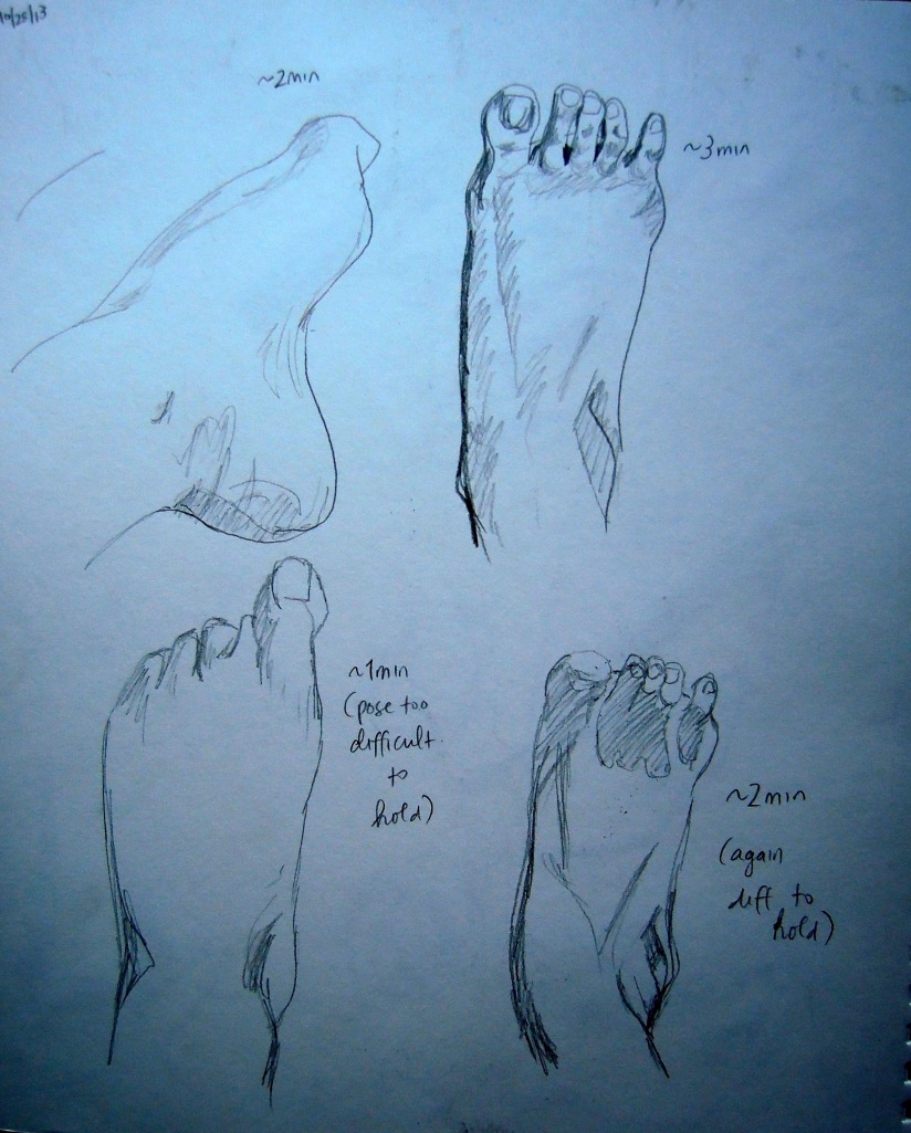 Sketches of my feet