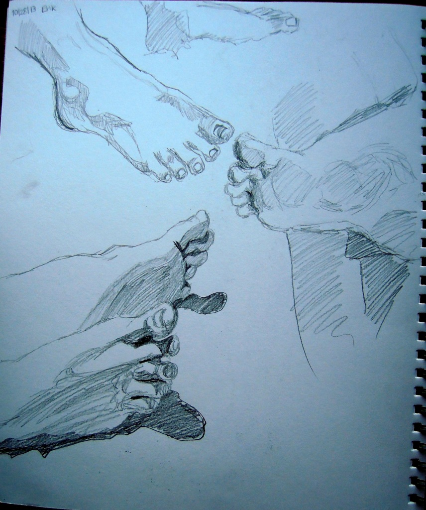 Sketches of Erik's feet