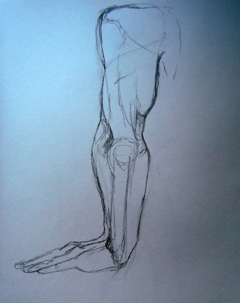 Sketch of a man's arm