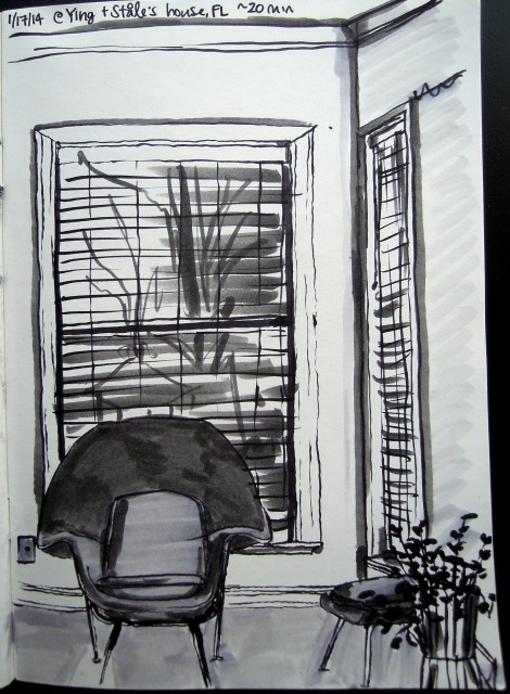 2014 Jan 17 - Living room sketch