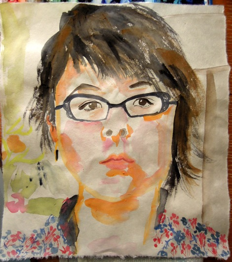 Watercolor self-portrait