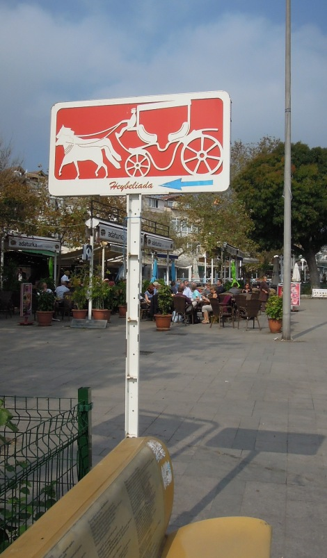 Feyton (horse-drawn carriage) sign, Heybeliada, Princes Islands, Istanbul