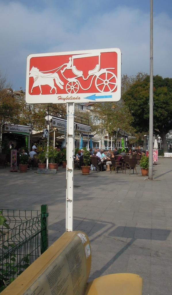 Feyton (horse-drawn carriage) sign, Heybeliada, Princes Islands, Istanbul