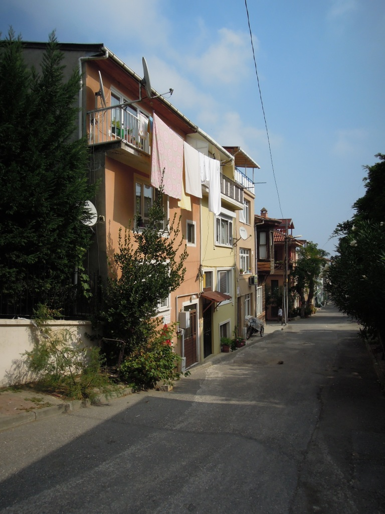 Laundry hanging from a balcony, Heybeliada, Princes Islands, Istanbul