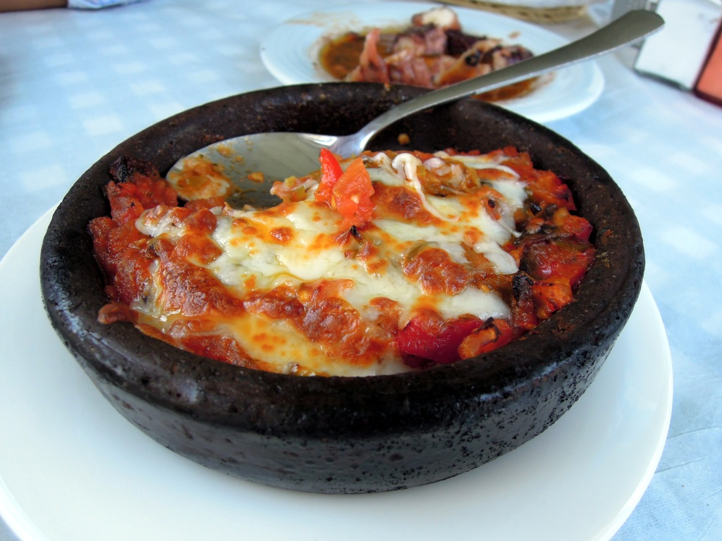 Shrimp casserole, Heyamola restaurant, Heybeliada, Princes Islands, Istanbul