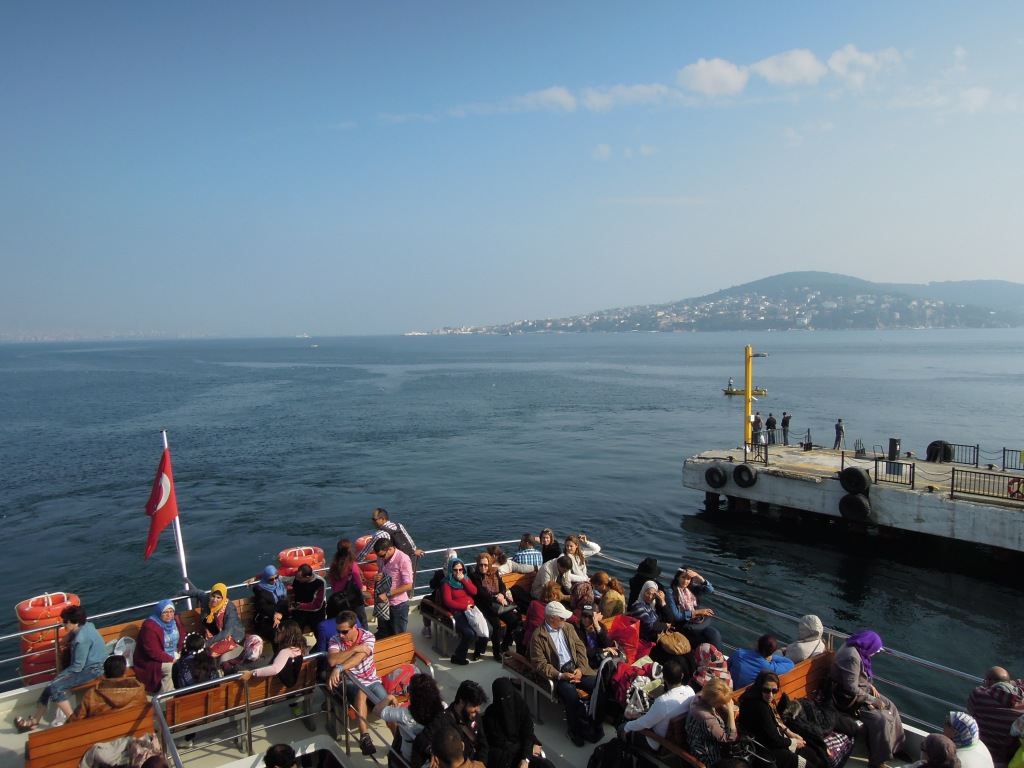 Ferry passengers, Sea of Marmara