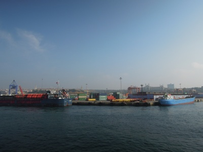 Colorful shipping containers, Istanbul