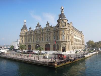 The castle-like Haydarpasa terminal building, Istanbul