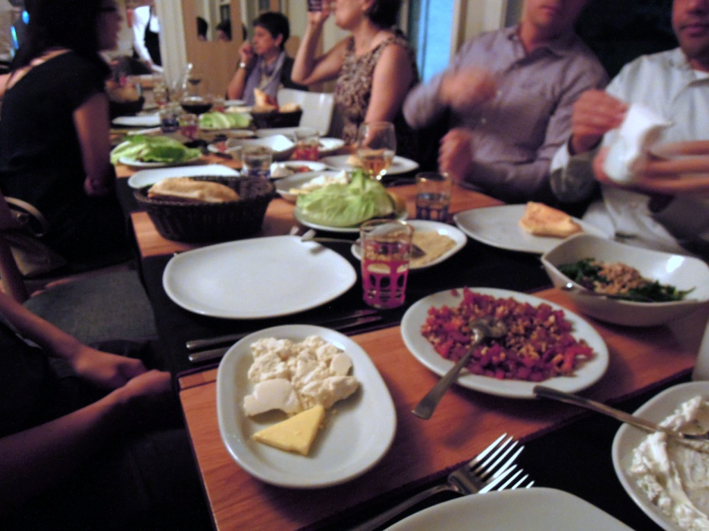 Many small plates on a table