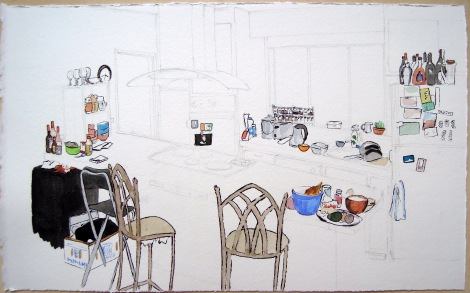 Kitchen portrait: Nayomi, Candi, Yosmay, and Alina, by Lisa Hsia