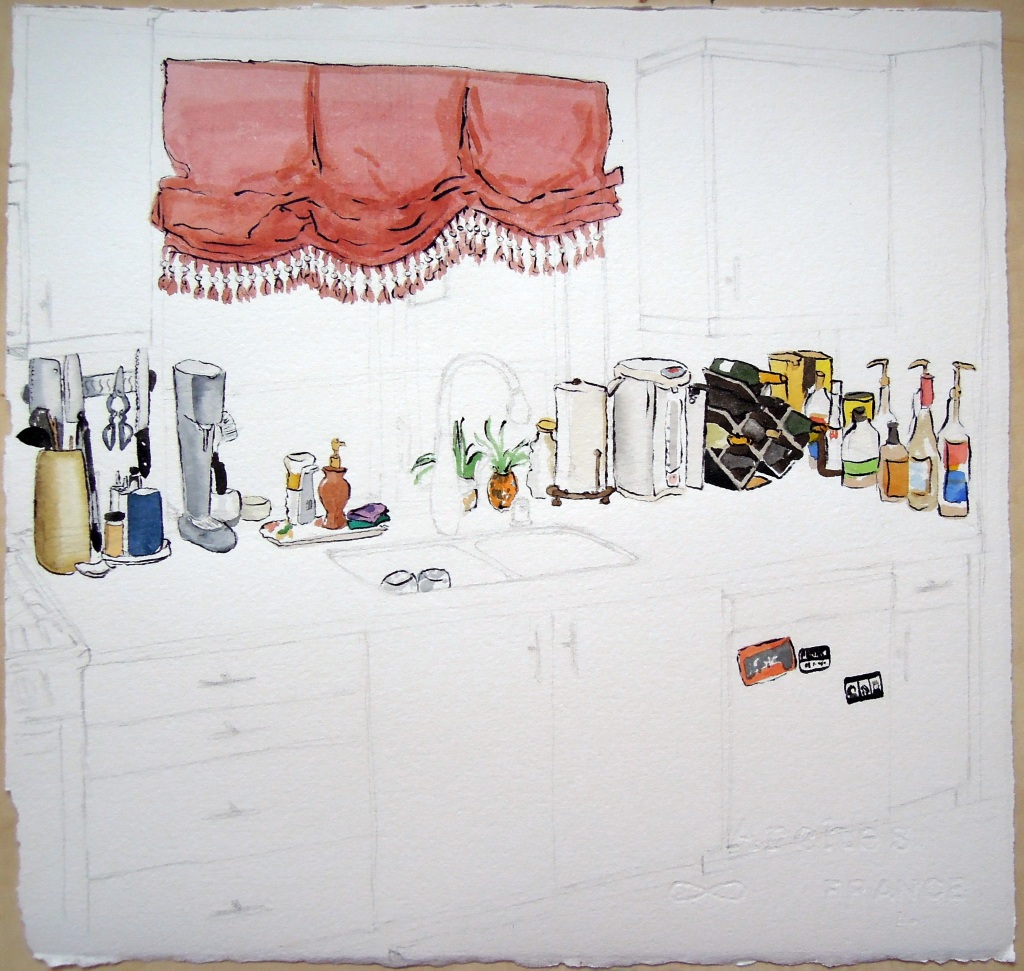 Kitchen portrait: W and B, by Lisa Hsia