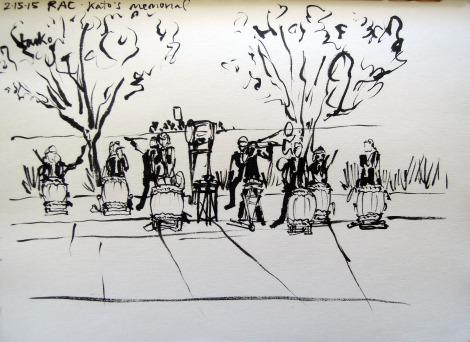 Sketch of Tatsumaki Taiko, by Lisa Hsia