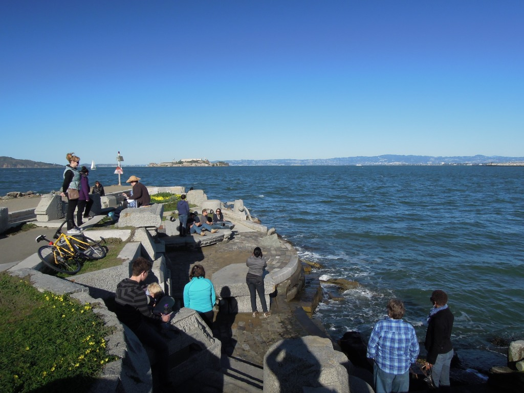 Visitors to the Wave Organ, San Francisco