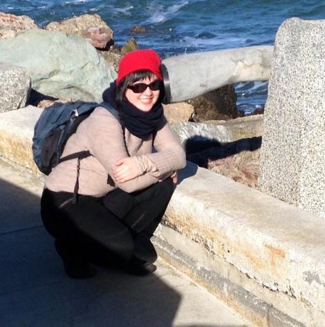 Lisa at the Wave Organ, San Francisco (photo by Regina)