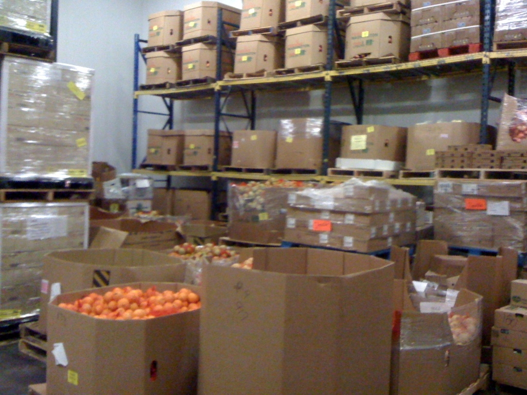 Refrigerated goods at the Alameda County Community Food Bank