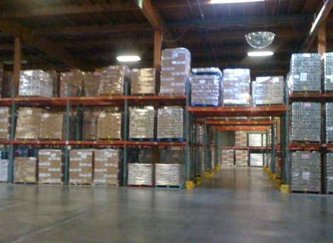 Warehouse of the Alameda County Community Food Bank